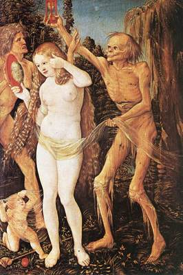 BALDUNG GRIEN Hans Three Ages Of The Woman And The Death