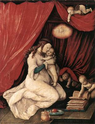 BALDUNG GRIEN Hans Virgin And Child In A Room