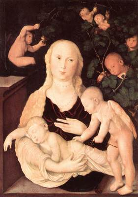 BALDUNG GRIEN Hans Virgin Of The Vine Trellis