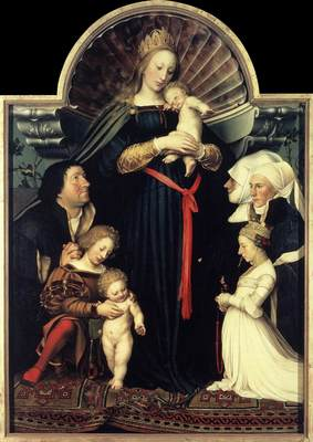 Holbien the Younger Darmstadt Madonna