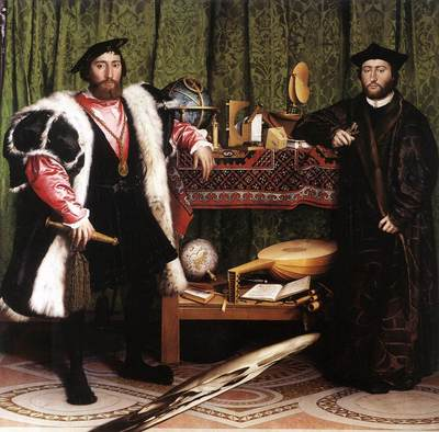Holbien the Younger Jean de Dinteville and Georges de Selve The Ambassadors