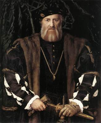 Holbien the Younger Portrait of Charles de Solier Lord of Morette