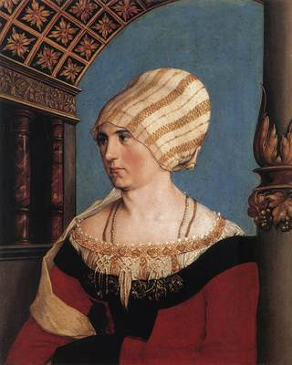 Holbien the Younger Portrait of Dorothea Meyer nee Kannengiesser