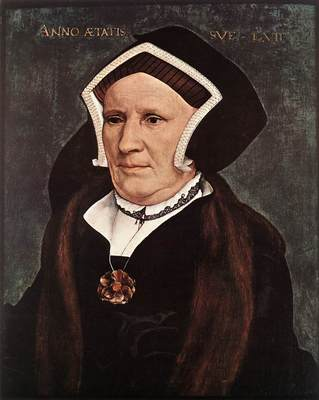 Holbien the Younger Portrait of Lady Margaret Butts