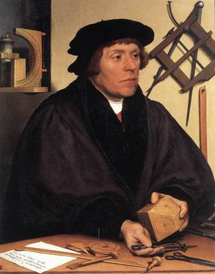 Holbien the Younger Portrait of Nikolaus Kratzer