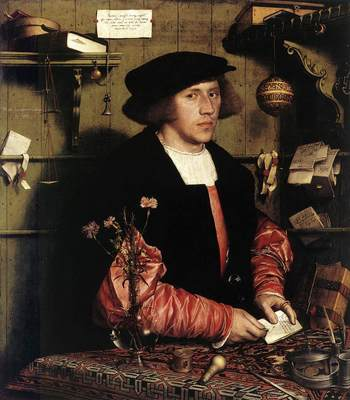 Holbien the Younger Portrait of the Merchant Georg Gisze