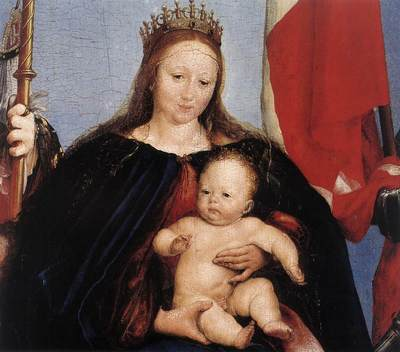 holbien the younger the solothurn madonna detail