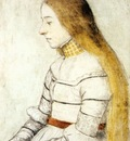 Holbien the Younger Portrait of Anna Meyer
