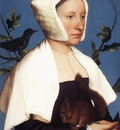 Holbien the Younger Portrait of a Lady with a Squirrel and a Starling