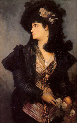 makart hans portrait of a lady