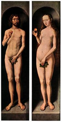 Memling Hans Adam and Eve c1485