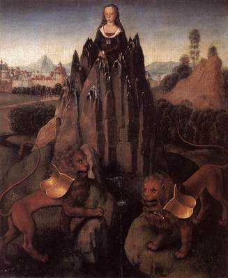 memling hans allegory with a virgin 1479