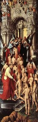 Memling Hans Last Judgment Triptych open 1467 1 detail1 left wing
