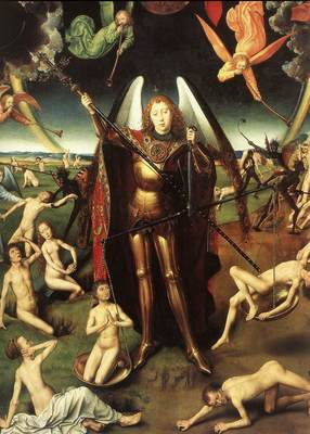 Memling Hans Last Judgment Triptych open 1467 1 detail7