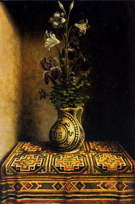 Memling Hans Marian Flowerpiece