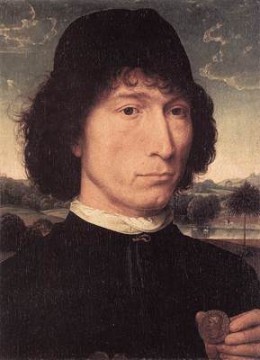 Memling Hans Portrait of a Man with a Roman Coin 1480 or later