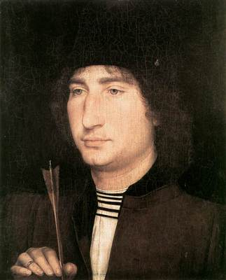 memling hans portrait of a man with an arrow 1478