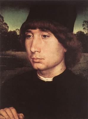 Memling Hans Portrait of a Young Man before a Landscape c1480