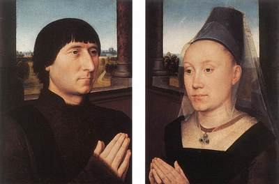 Memling Hans Portraits of Willem Moreel and His Wife c1482