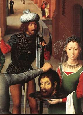 Memling Hans St John Altarpiece 1474 9 detail2 left wing