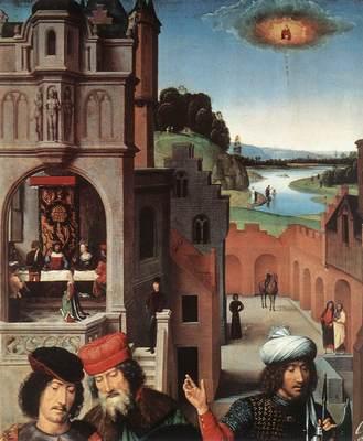 Memling Hans St John Altarpiece 1474 9 detail3 left wing
