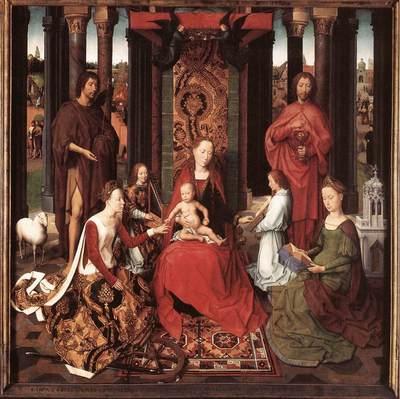Memling Hans St John Altarpiece 1474 9 detail6 central panel