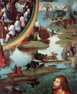 Memling Hans St John Altarpiece 1474 9 detail9 right wing