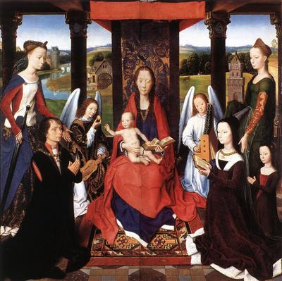 Memling Hans The Donne Triptych c1475 detail2 central panel