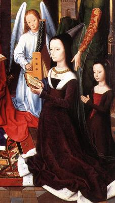 Memling Hans The Donne Triptych c1475 detail5 central panel