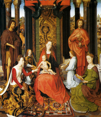 Memling Hans The Mystic Marriage Of St catherine Of Alexandria