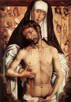 Memling Hans The Virgin Showing the Man of Sorrows c1480