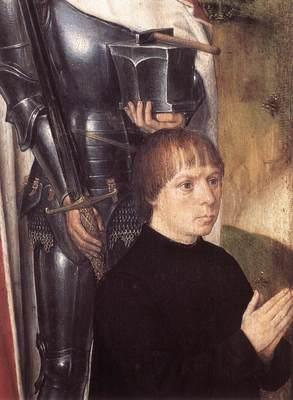 Memling Hans Triptych of Adriaan Reins 1480 detail1 left wing