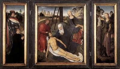 memling hans triptych of adriaan reins
