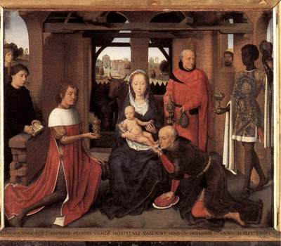 Memling Hans Triptych of Jan Floreins 1479 detail1 central panel
