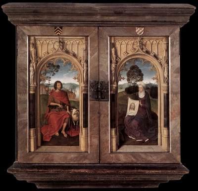 Memling Hans Triptych of Jan Floreins 1479 detail2 reverse