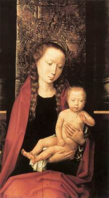 Memling Hans Virgin and Child Enthroned 1480s detail1
