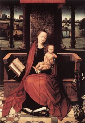 Memling Hans Virgin and Child Enthroned 1480s