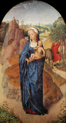 Memling Hans Virgin and Child in a Landscape Rothschild