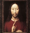 memling hans christ giving his blessing