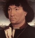 Memling Hans Portrait of a Man at Prayer before a Landscape c1480