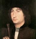 memling hans portrait of a man with an arrow 1478