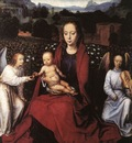 Memling Hans Virgin and Child in a Rose Garden with Two Angels 1480s