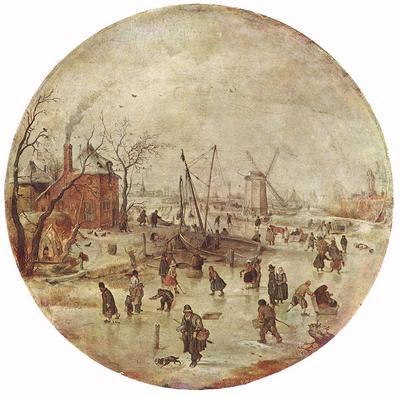 AVERCAMP Hendrick Winter Landscape With Skaters