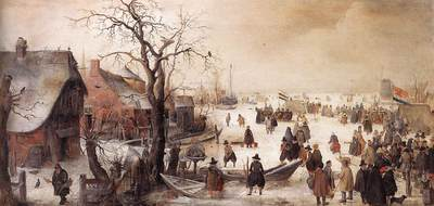 AVERCAMP Hendrick Winter Scene On A Canal