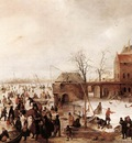 avercamp hendrick a scene on the ice near a town