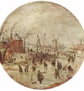 AVERCAMP Hendrick Winter Landscape With Skaters