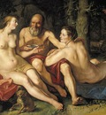 GOLTZIUS Hendrick Lot And His Daughters