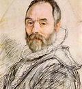 GOLTZIUS Hendrick Portrait Of Sculptor Giambologna