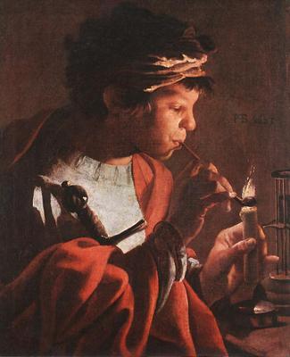 TERBRUGGHEN Hendrick Boy Lighting A Pipe