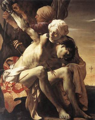 TERBRUGGHEN Hendrick St Sebastian Tended By Irene And Her Maid